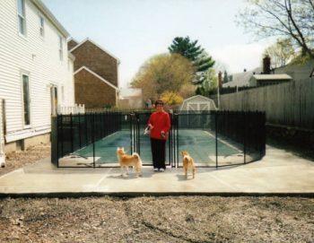 black pool fences