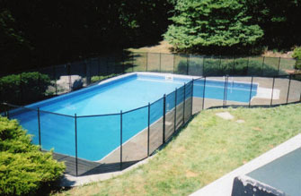 Mesh Pool Fence in Black Color