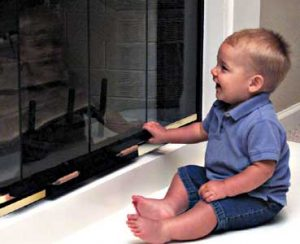 Fireplace Door Guard