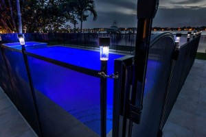 Pool with Solar Lights