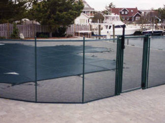 pool fencing in hunter green color