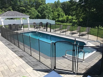 pool fence in black color