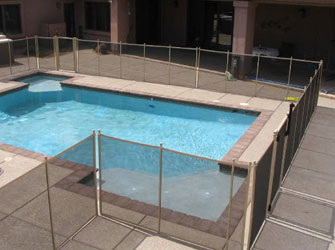 pool fences in Tan color