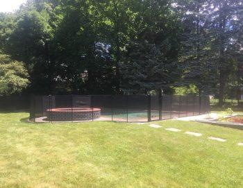 100ft black mesh fence Ryebrook, NY