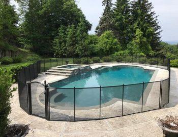 105ft black pool fence installer Sleepy Hollow, NY