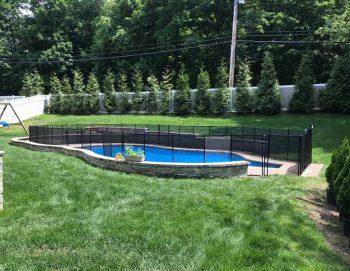 105ft black pool fencing Bedford Hills, NY