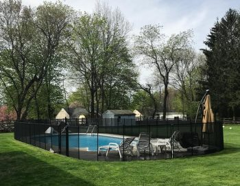 105ft removable black pool fence Redding, CT