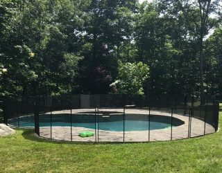 110ft black fencing old Greenwich, CT