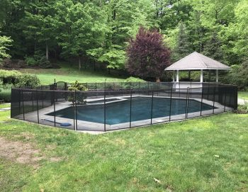 110ft brown pool fence Weston, CT