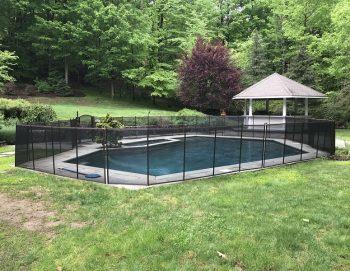 110ft brown pool fence Weston, CT