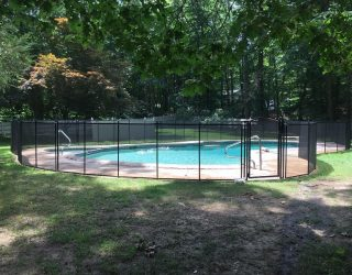 115ft black fence for pool Bedford, NY