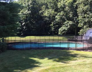 115ft black removable pool fencing Weston, CT