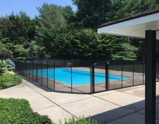 120ft black mesh pool fence Darien, CT