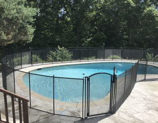 120ft black mesh pool fence Greenwich, CT