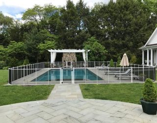 120ft black mesh pool fences Weston, CT