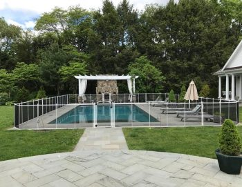 120ft black mesh pool fences Weston, CT