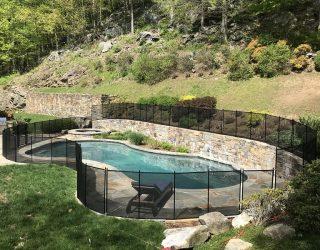 120ft black mesh pool fencing Katonah, NY