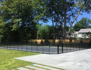 120ft black pool fence New Canaan, CT