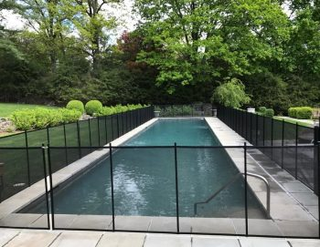 125ft pool fence black Purchase, NY