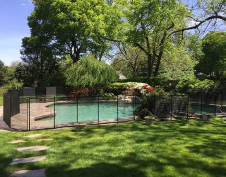 130ft black mesh fencing New Canaan, CT