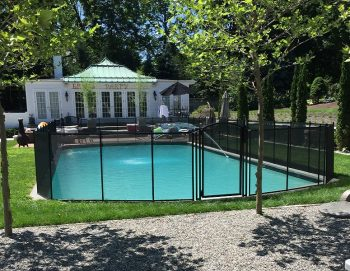 130 ft black pool safety fence Greenwich, CT