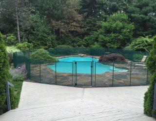 130ft hunter green pool fence Armonk, NY