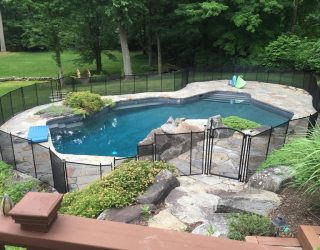 135ft black swimming pool fence Briarcliff Manor, NY