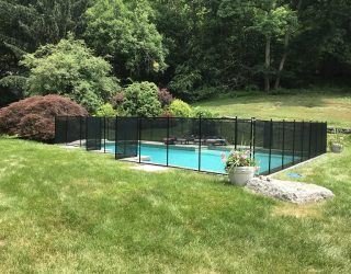 135ft black swimming pool fence Westport, CT