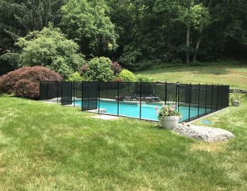135ft black swimming pool fence Westport, CT