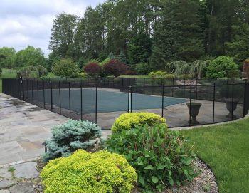 140ft removable black fence Katonah, NY