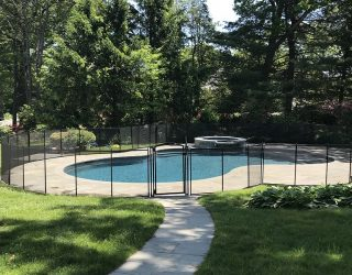 150ft mesh black pool fencing Harrison NY