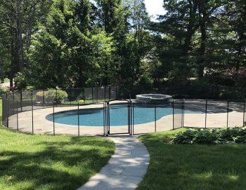 150ft mesh black pool fencing Harrison NY