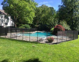 160ft black pool fences Harrison, NY