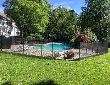 160ft black pool fences Harrison, NY