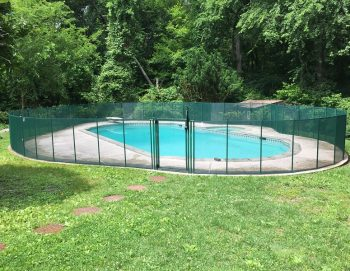80ft hunter green pool fence Old Greenwich, CT