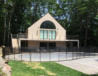 80ft Life Saver black pool fencing Warren, CT