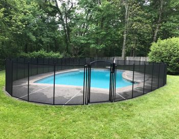 80ft removable black pool fencing Old Lyme, CT