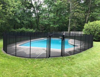 80ft removable black pool fencing Old Lyme, CT