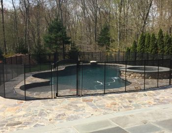 90ft black fence for pools installed Fairfield, CT