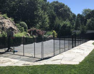 90ft black pool fences West Harrison, NY