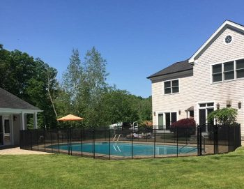 90ft installed black pool fencing Simsbury, CT