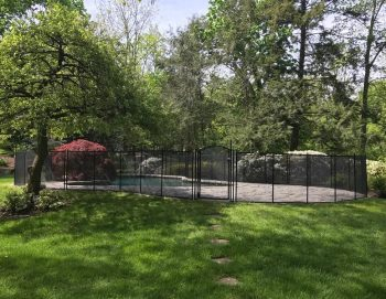 90ft swimming pool fence black color Mamaroneck, NY