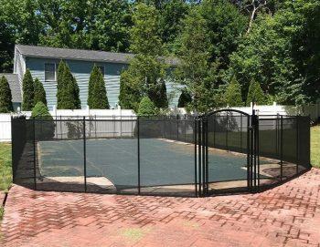 95ft black swimming pool fence Mahopac, NY