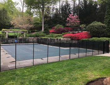 black Life Saver pool fence installed in Greenwich, CT