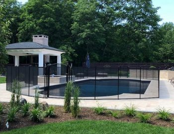 Life Saver mesh pool fence installed by Kids Safe in Scarsdale, NY