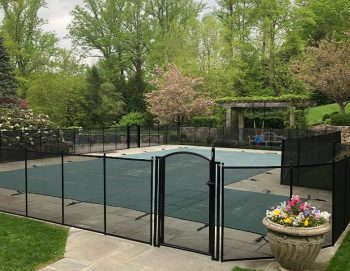 Life Saver Pool Fence installed with a self-closing gate in Chapequa, NY
