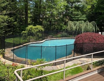 mesh pool fence installed in Bedford, NY