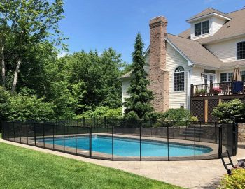 professionally installed pool fence in New Canaan, CT