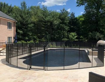 removable pool fencing installed in Hardford, CT