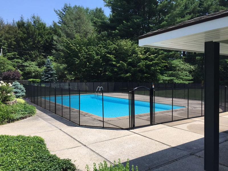 removable mesh pool safety fence Hudson Valley